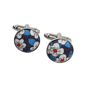 boutons de manchette charlotte bleu