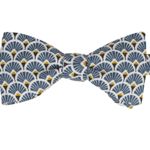noeud papillon a plumes navy
