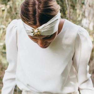 turban ceinture lisa imprimé polka