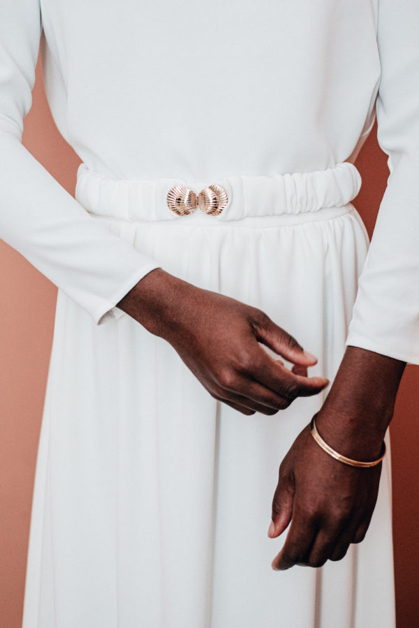 ceinture coquillage ivoire