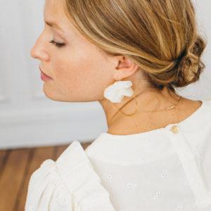 Boucles d'oreilles léa ivoire